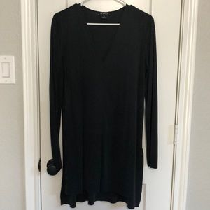 Trouve Charcoal Long Sleeve Tunic